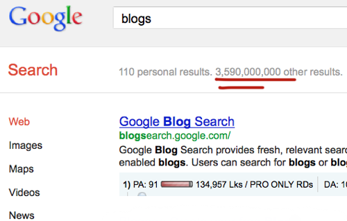 Google blog search
