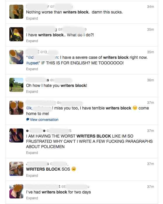 writers block twitter