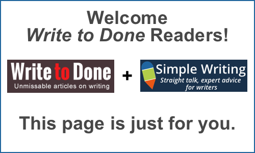 Welcome Write to Done Readers