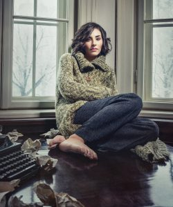 Woman frustrated with writer's block
